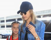 Jessica Alba and Her Daughter Twin in White Adidas Sneakers