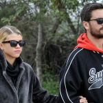 Sofia Richie - Scott Disick Sport Matching Sneakers for Sushi Date